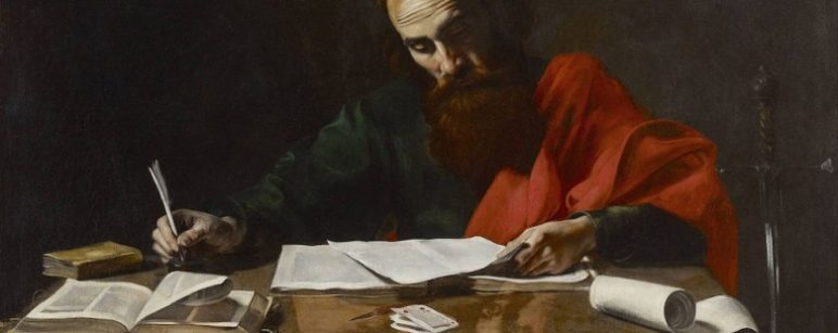 St. Paul writing his epistles